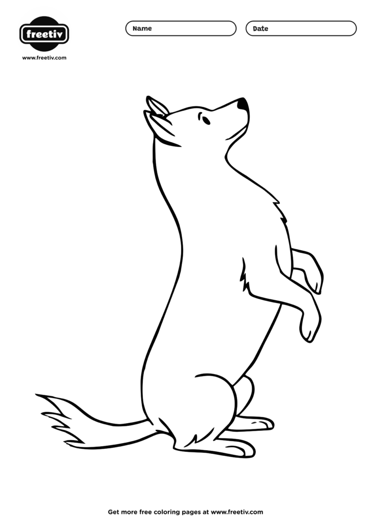 Dog Coloring Page 01