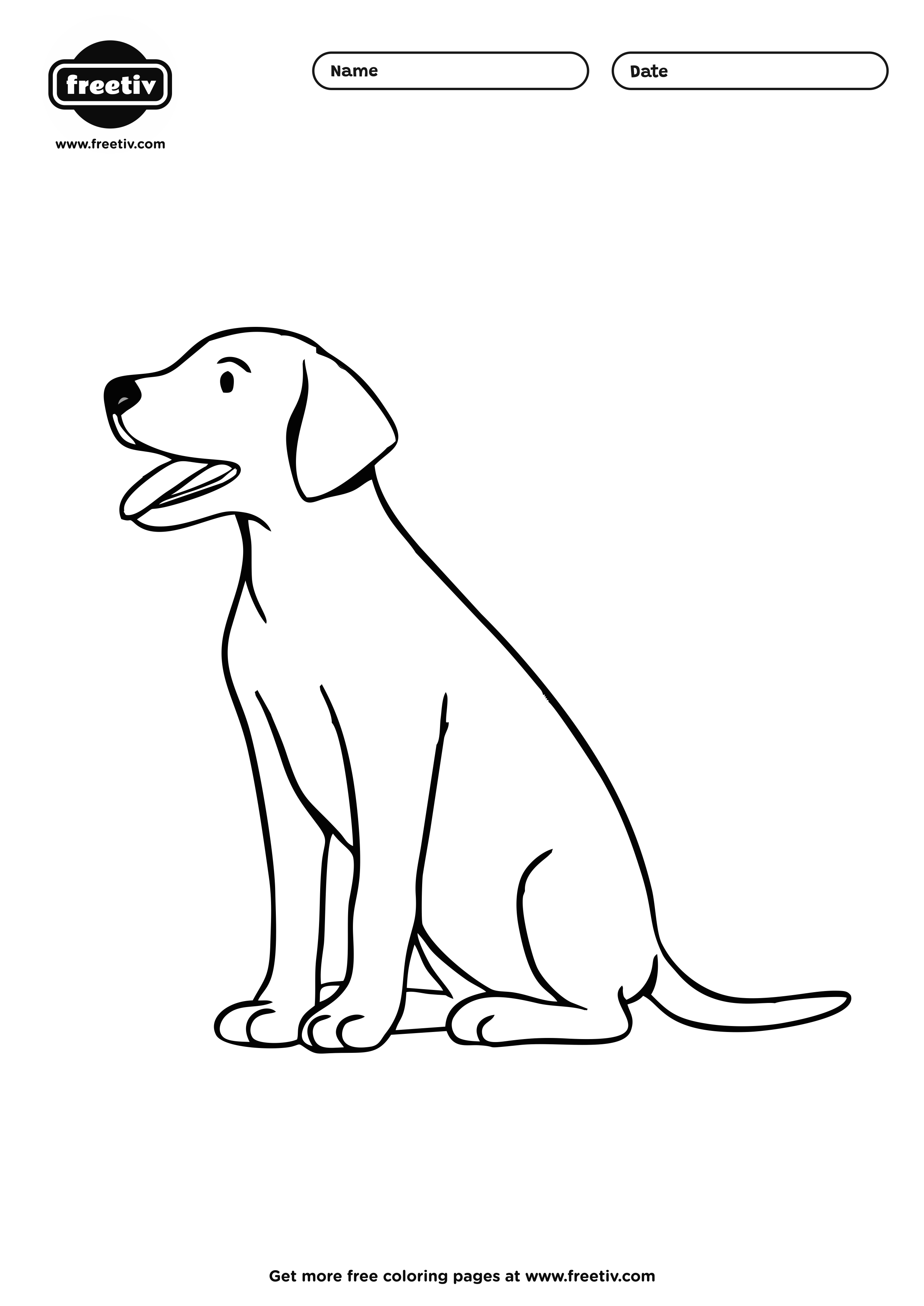 Dog Coloring Page 02