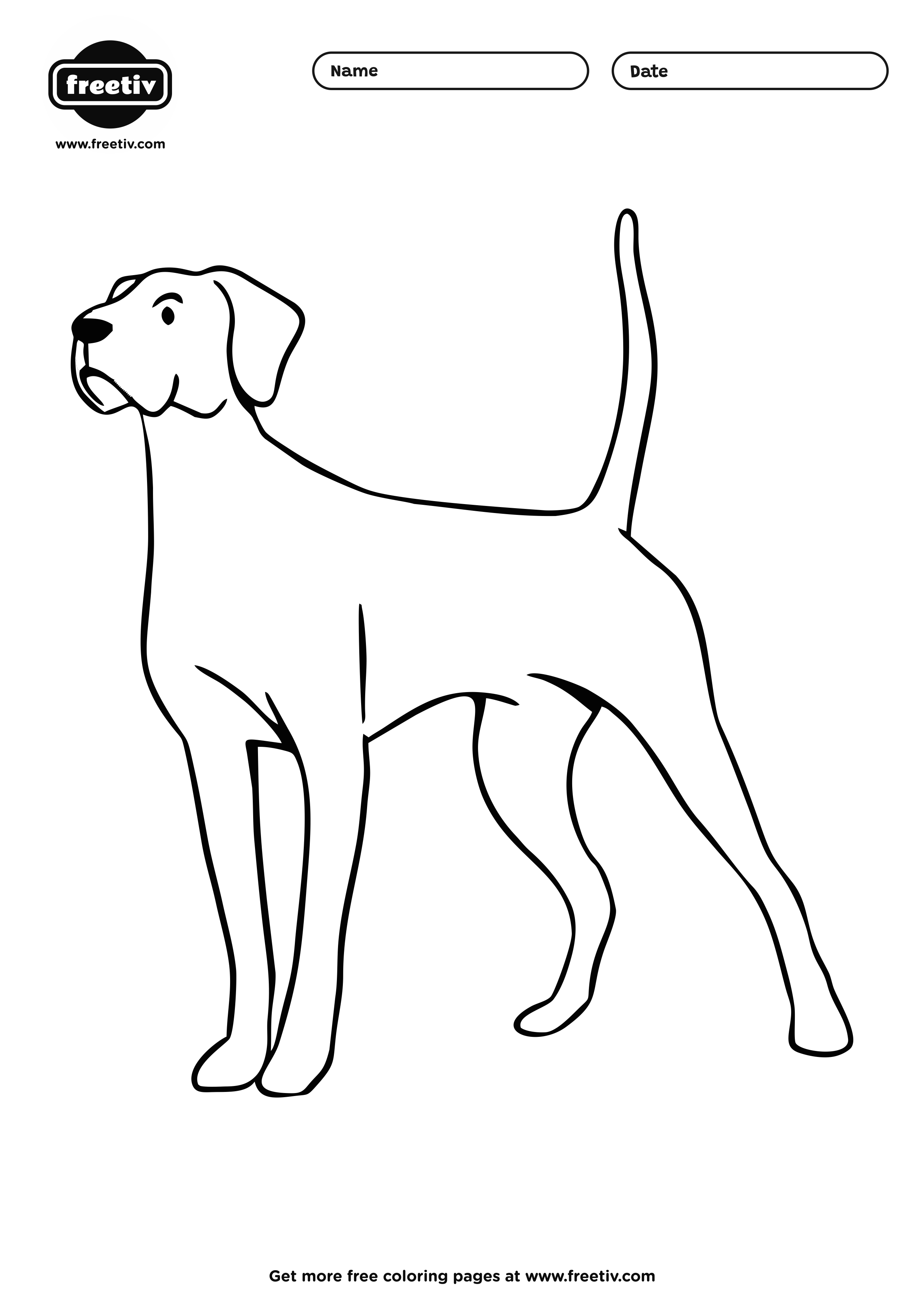 Dog Coloring Page 03