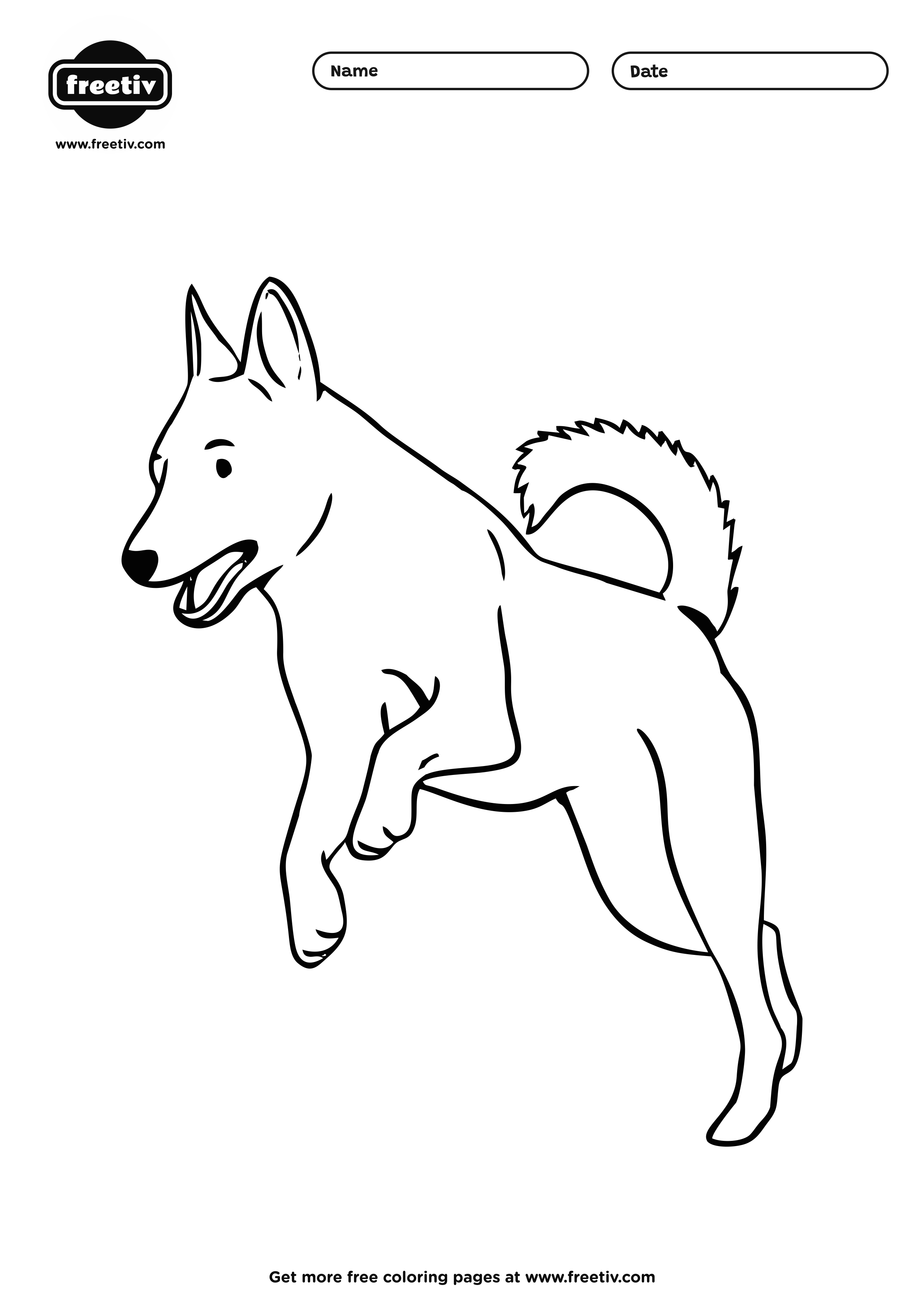Dog Coloring Page 04