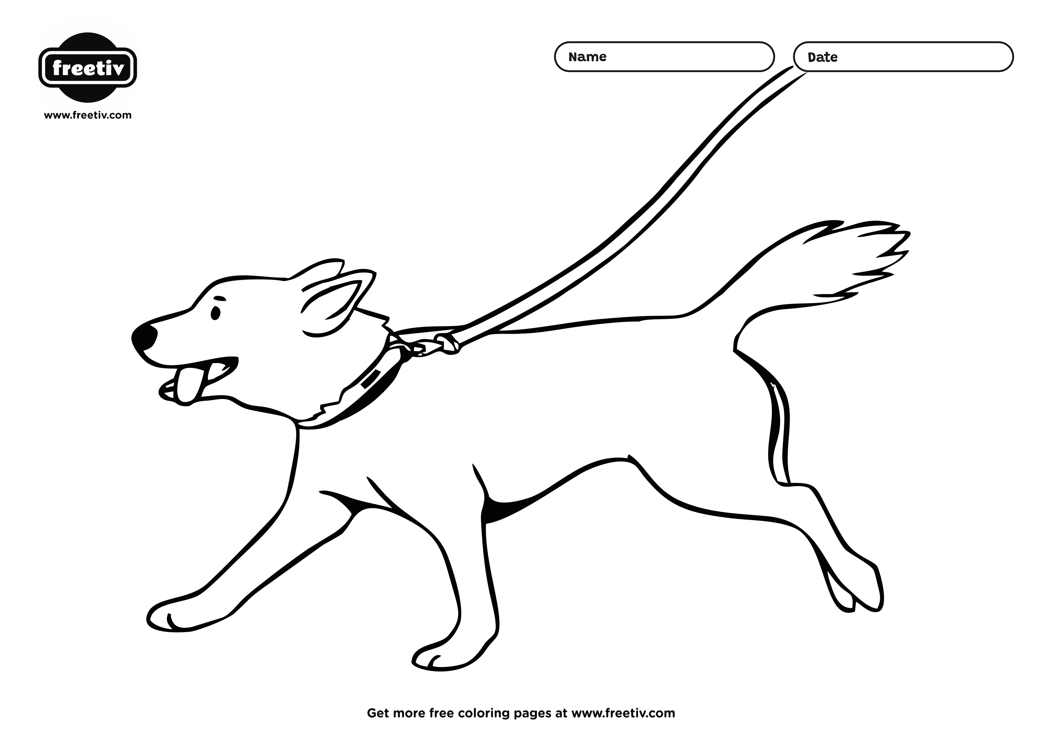 Dog Coloring Page 05