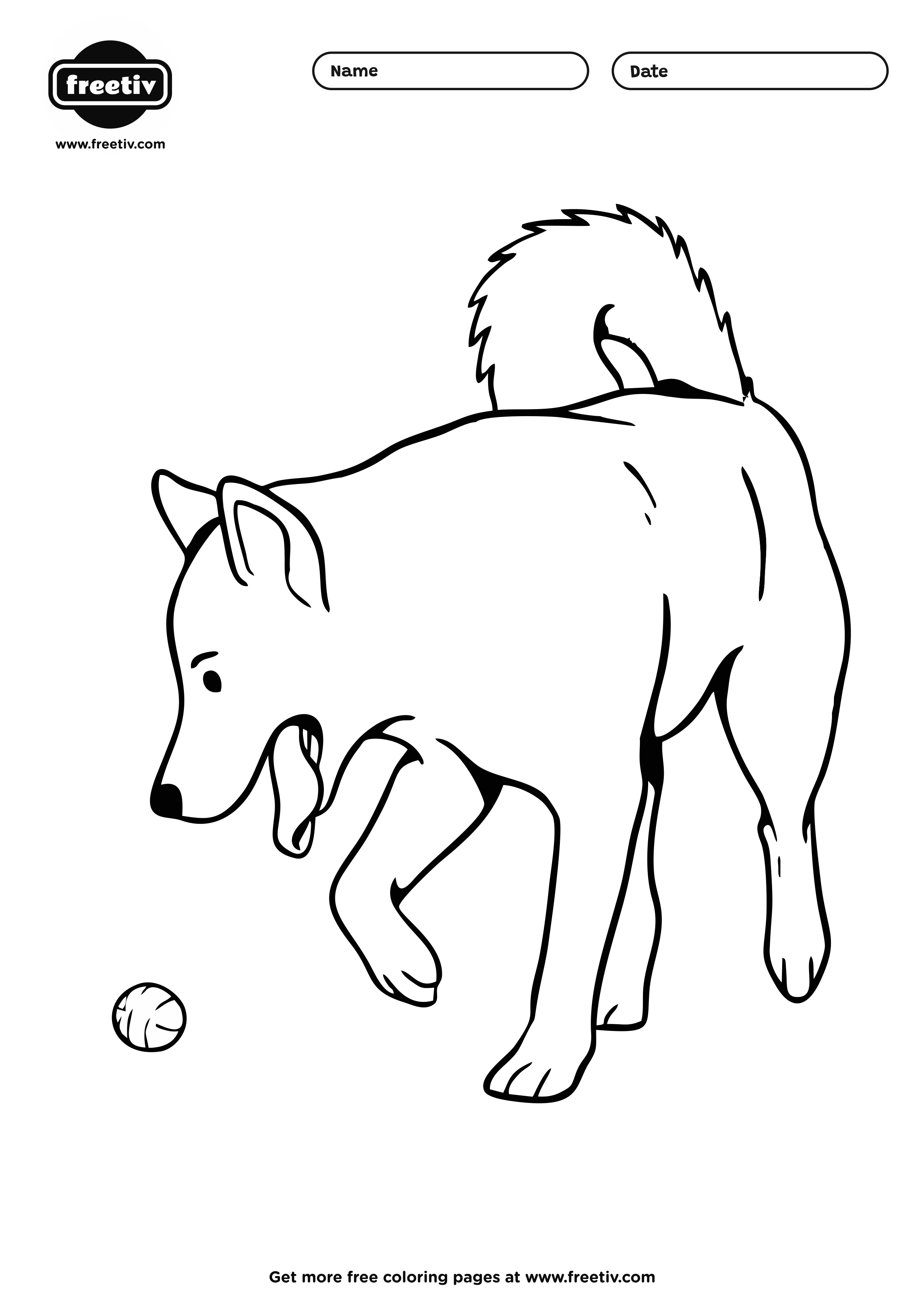 Dog Coloring Page 06
