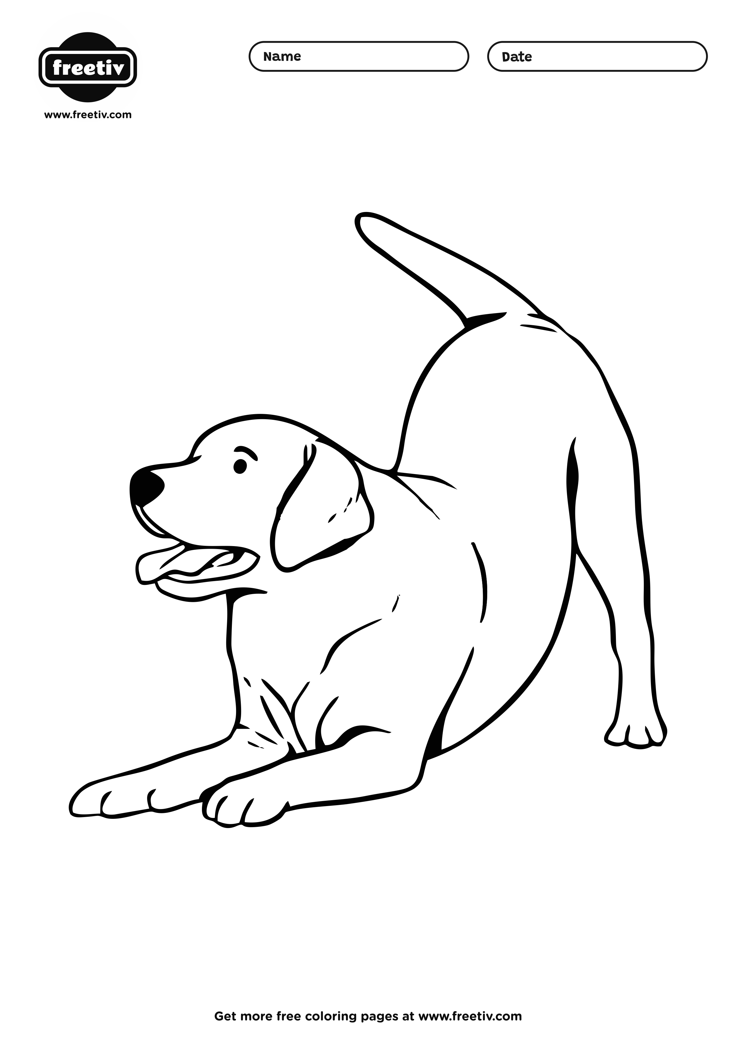 Dog Coloring Page 07