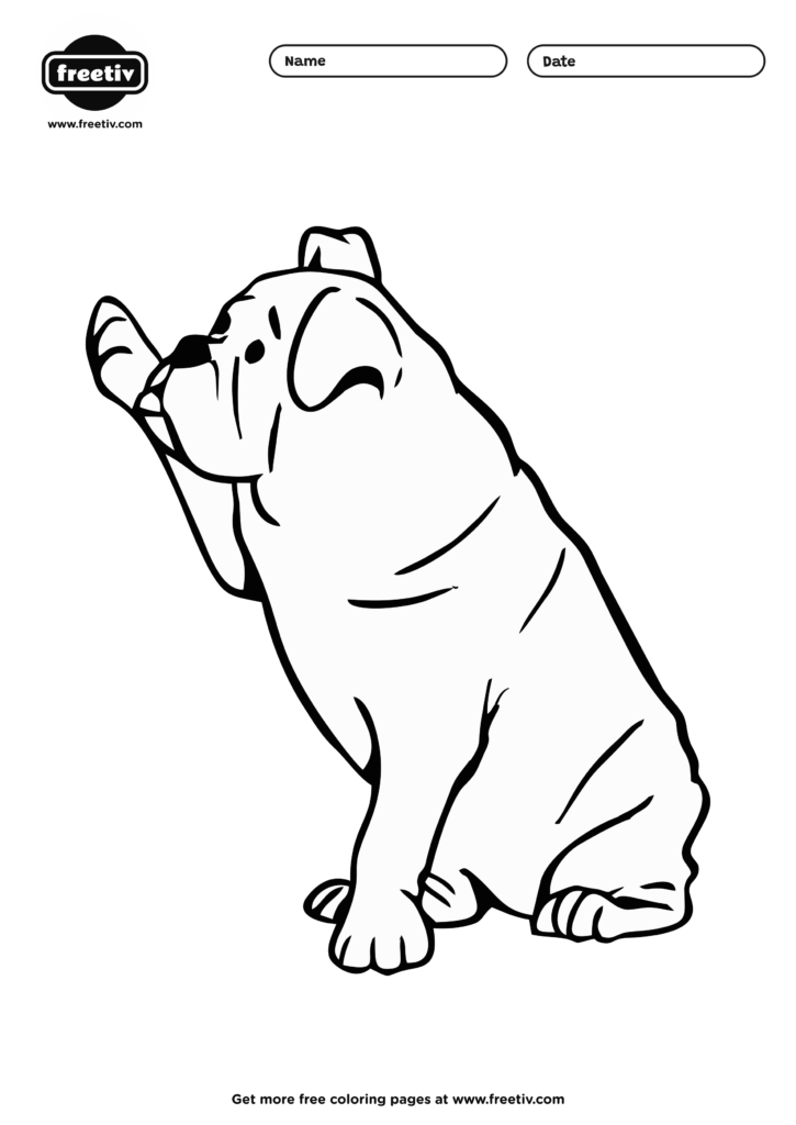 Dog Coloring Page 08