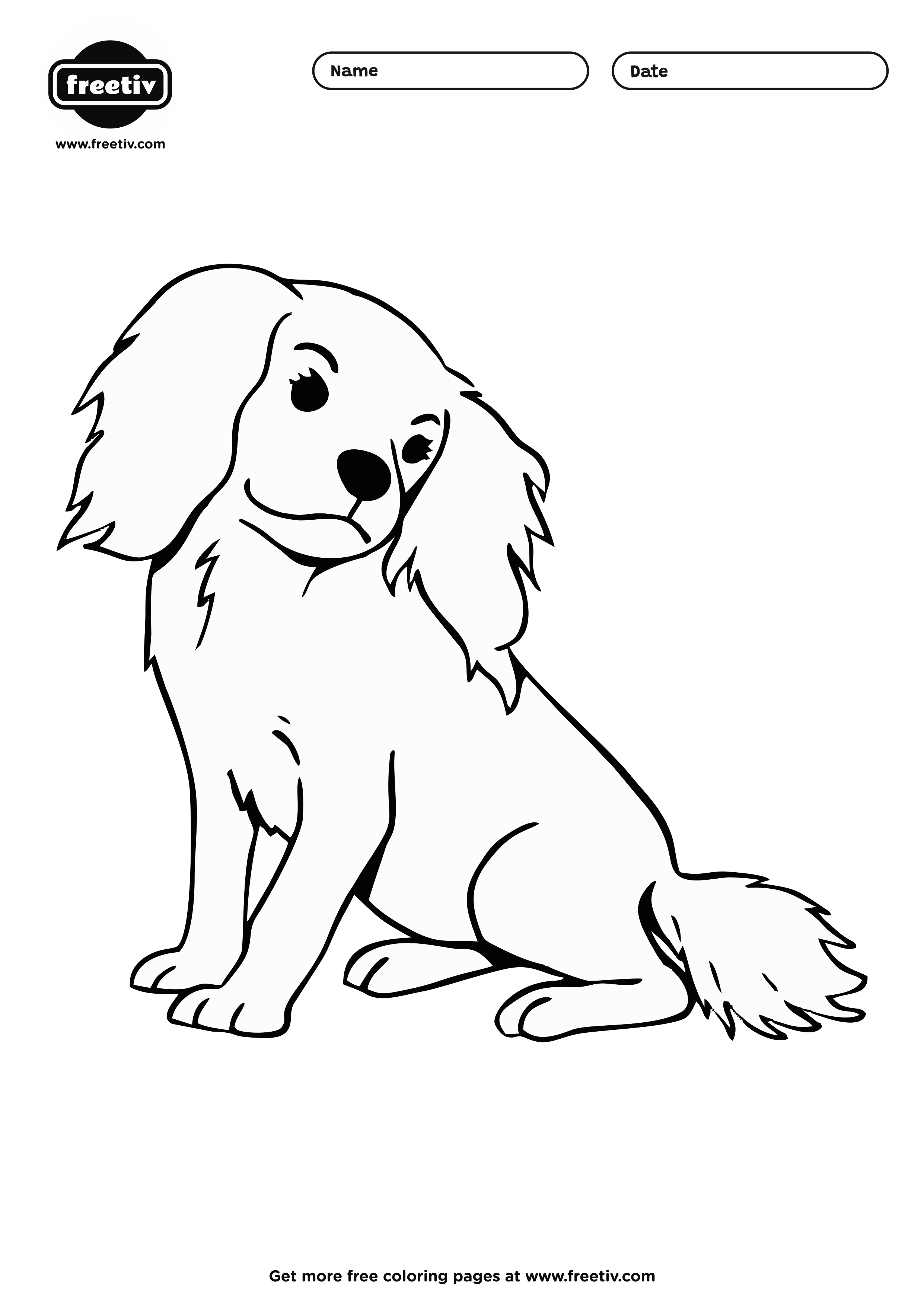 Dog Coloring Page 09