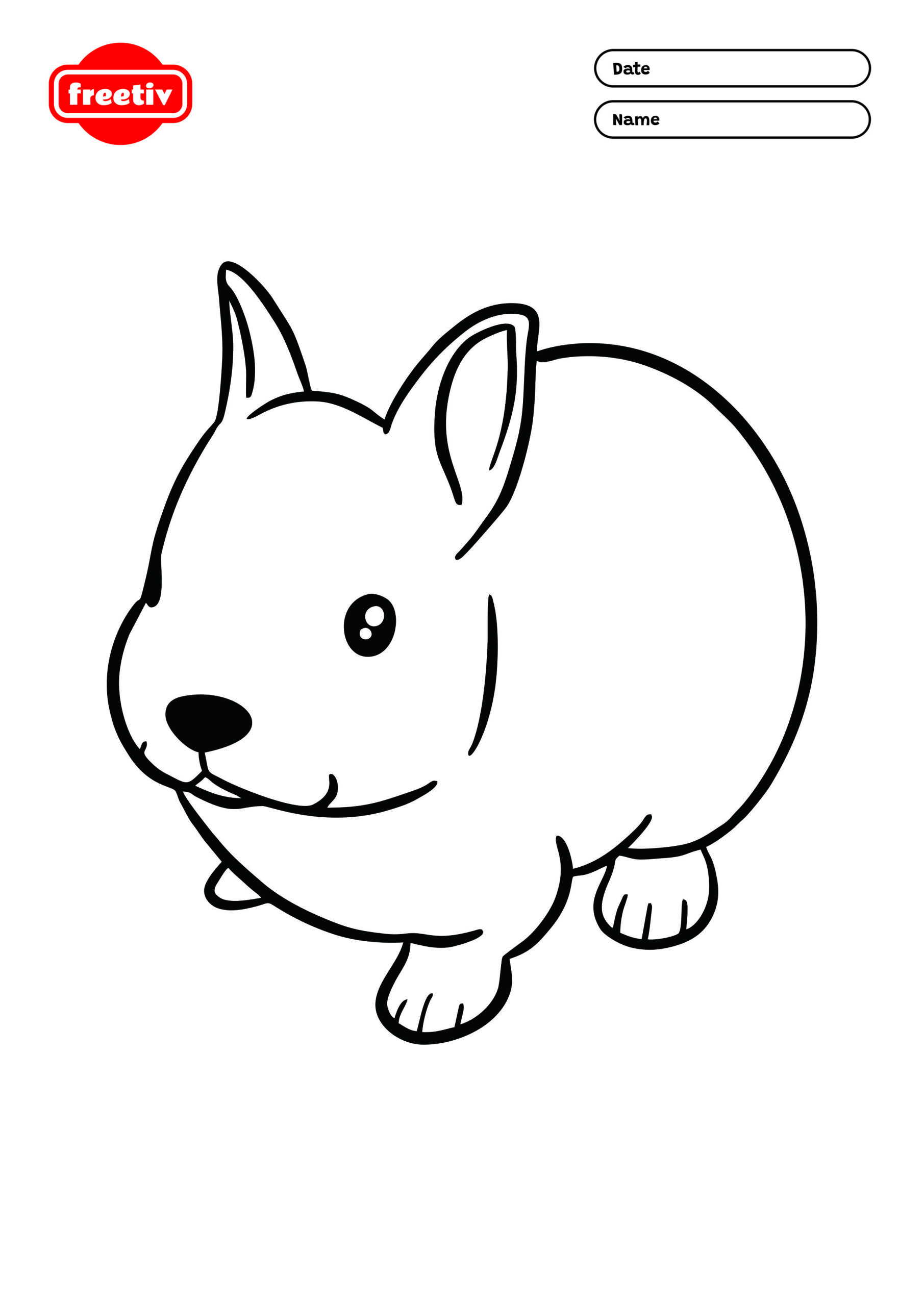Bunny Coloring Page 01