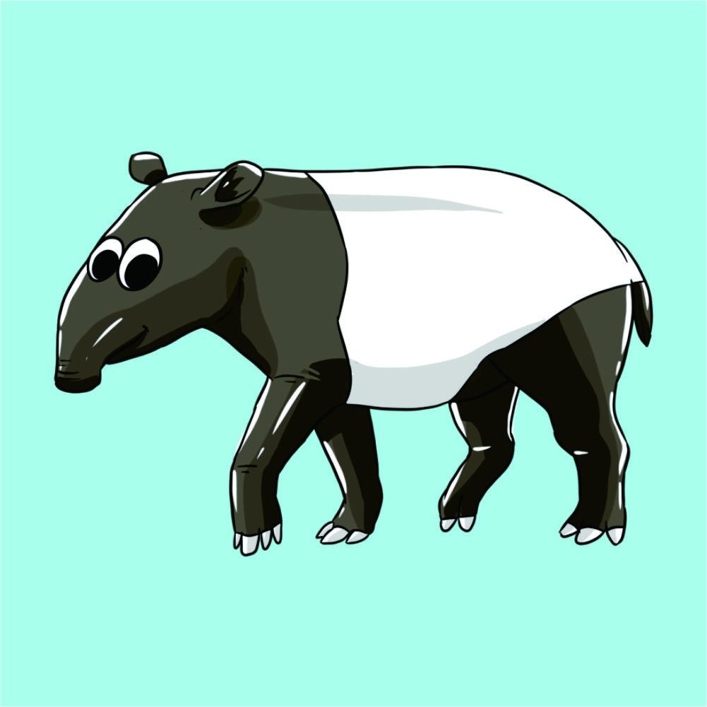 Tapir Coloring Page